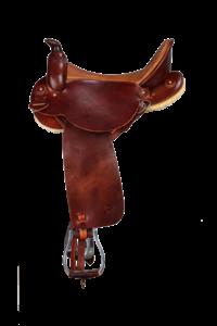 Westernsattel Endurance mit Horn: seitlich