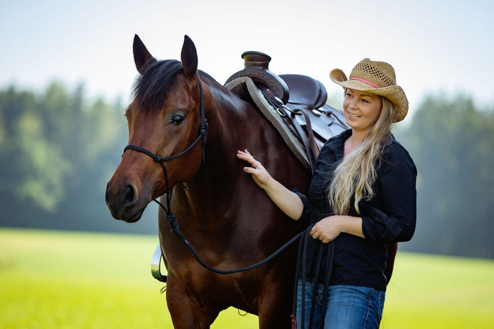 Westernsattel für Quarter Horse